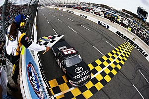NASCAR Truck Race report KBM's Hamlin takes the Martinsville 200 win