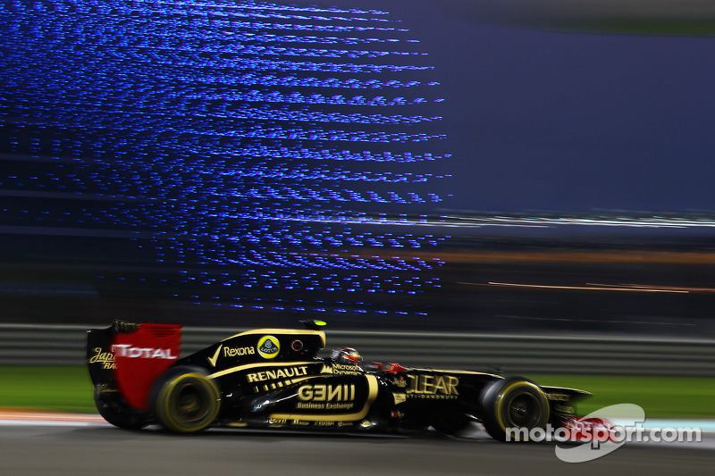Grosjean was more fast than Raikkonen on Friday practice at Yas Marina