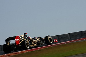 Formula 1 Practice report Lotus drivers evaluate brakes and exhausts in first day at Austin