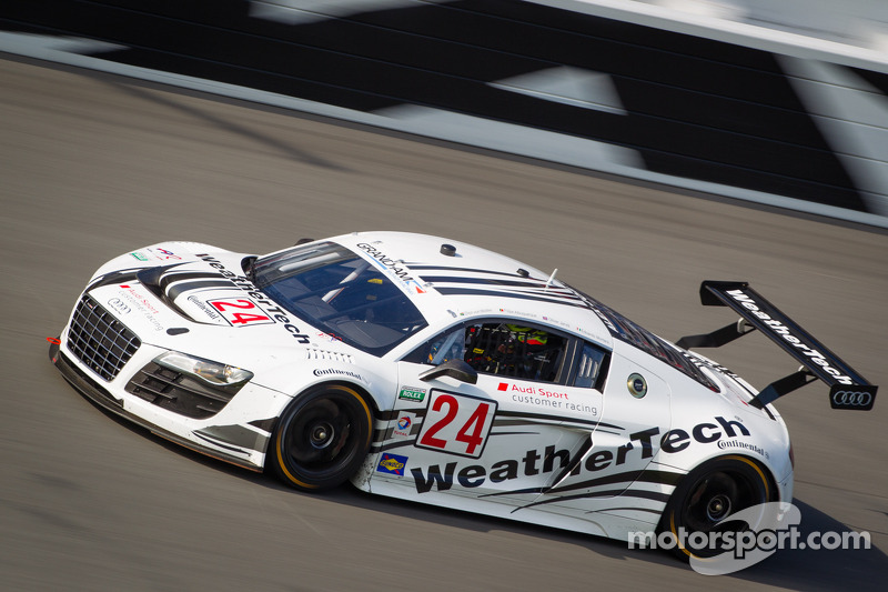 WeatherTech Racing Audi R8 upfront at Daytona 24H testing
