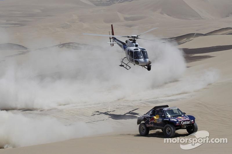 Al-Attiyah, Lopez ride dunes to stage three victories