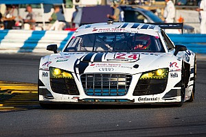 Grand-Am Race report WeatherTech Racing Audi R8 second after 18 hours in Rolex 24 at Daytona