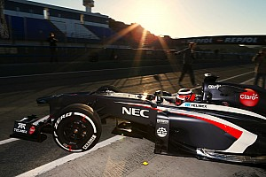 Hülkenberg breaks in the Sauber C32-2 in Jerez opening test day