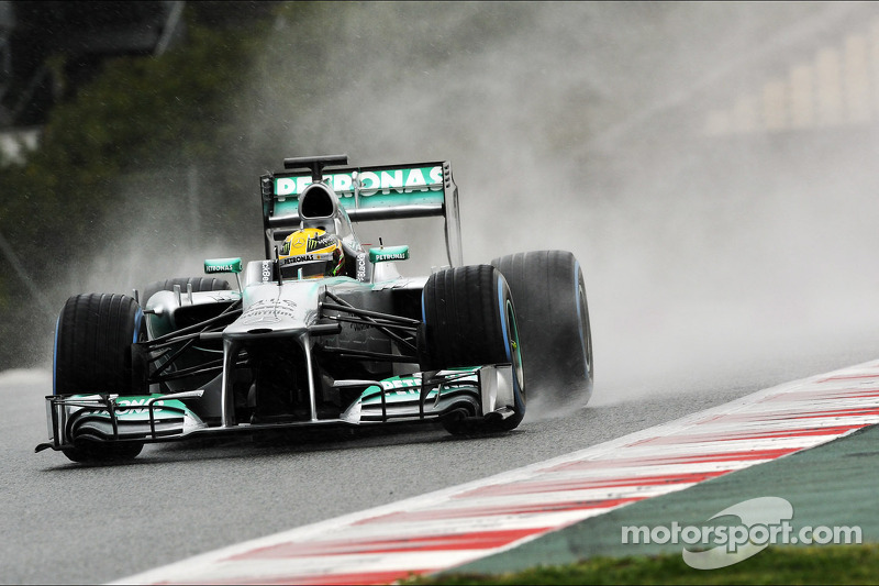 Mercedes' Rosberg happy with the great mileage reached in Barcelona