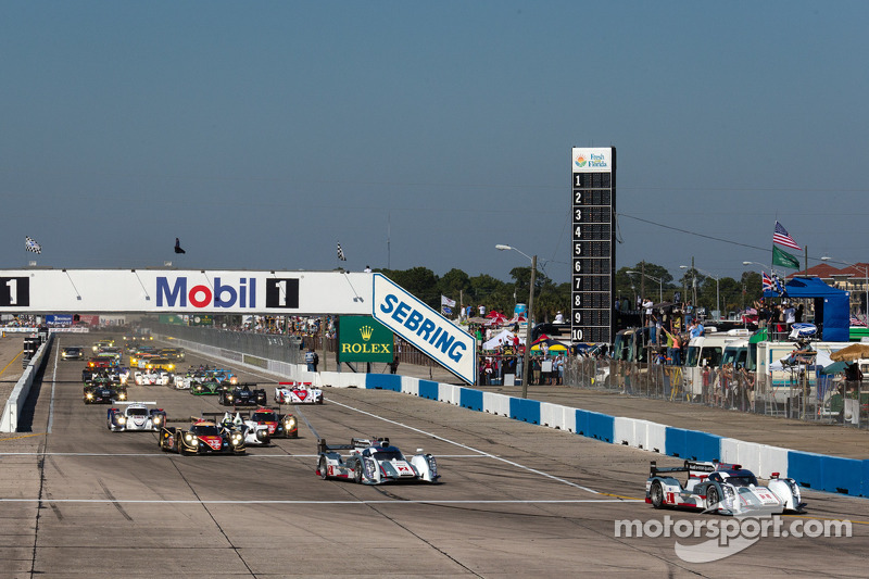 Audi runs 1-2 through two hours at Sebring