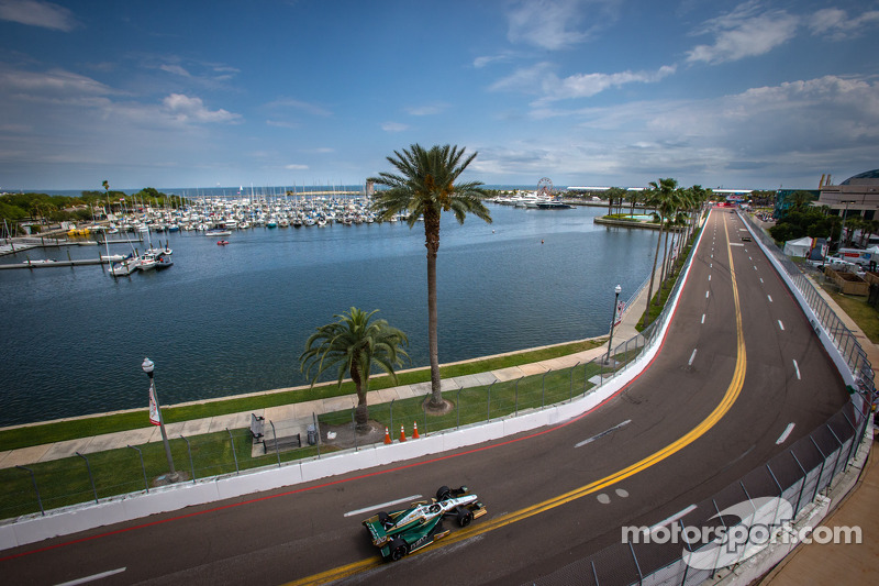Carpenter continues to improve speed during qualifying in St. Pete streets