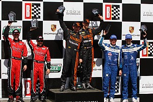 Grand-Am Race report Podium finish for Spirit of Daytona Racing drivers at Barber
