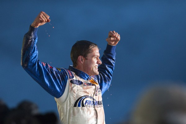 Ragan scores in wild finish at Talladega