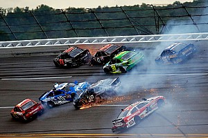 NASCAR Sprint Cup Race report Busch's strong run ends in late multicar melee