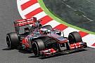 Rain disrupts half day of McLaren Friday practice in Barcelona