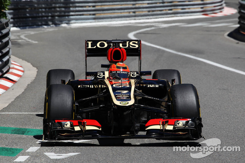 Top ten fastest time of a day by Lotus drivers at Monaco GP practice