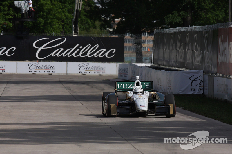 Carpenter takes 18th Saturday in the opening race of 'duals' at Belle Isle