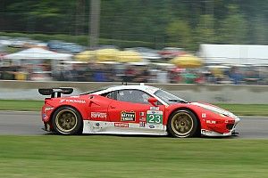 ALMS Race report Keen and Bell have Tough Road America in Team West/AJR Ferrari