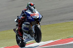 MotoGP Practice report Lorenzo takes fight to rivals on day one at Silverstone