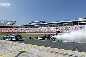 NASCAR Sprint Cup Special feature Johnson and Schumacher wow the fans in Charlotte