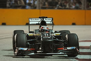 Formula 1 Practice report Sauber evaluated updated package on Friday pratice for the Singapore GP