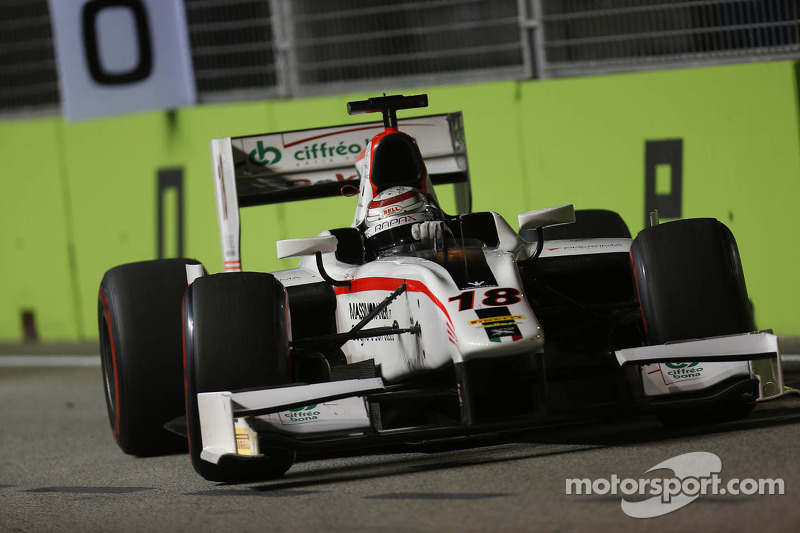 Coletti ended close to the points in Singapore's Main race