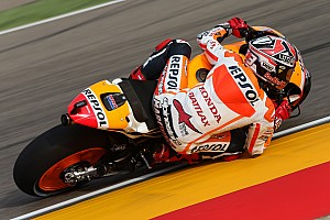 MotoGP Qualifying report Marquez motors to seventh pole position of the season at Aragon