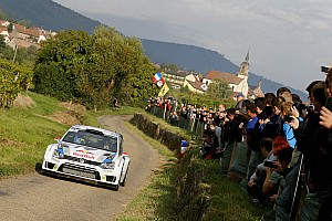 WRC Leg report Just 0.4 seconds ahead: Latvala leads French thriller