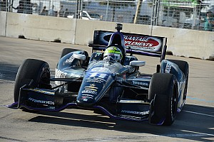 Simona De Silvestro earns her first podium in Houston on Saturday