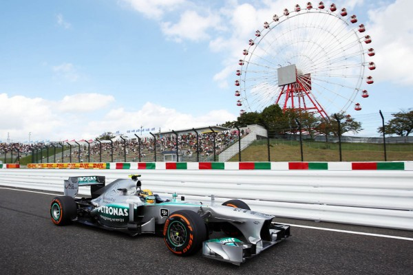 Hamilton on top at Suzuka in morning practice