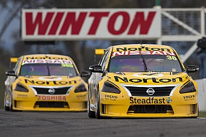 V8 Supercars Qualifying report Nissan Motorsport toughs it out in qualifying in its Mount Panorama return