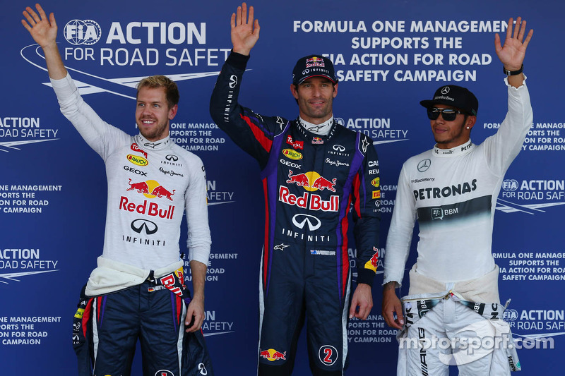 Webber beats Vettel to take surprising pole position in Suzuka