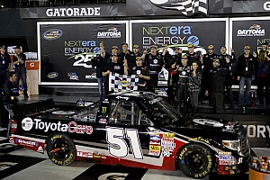 NASCAR Truck Race report Busch becomes first driver to win in four different series at Daytona