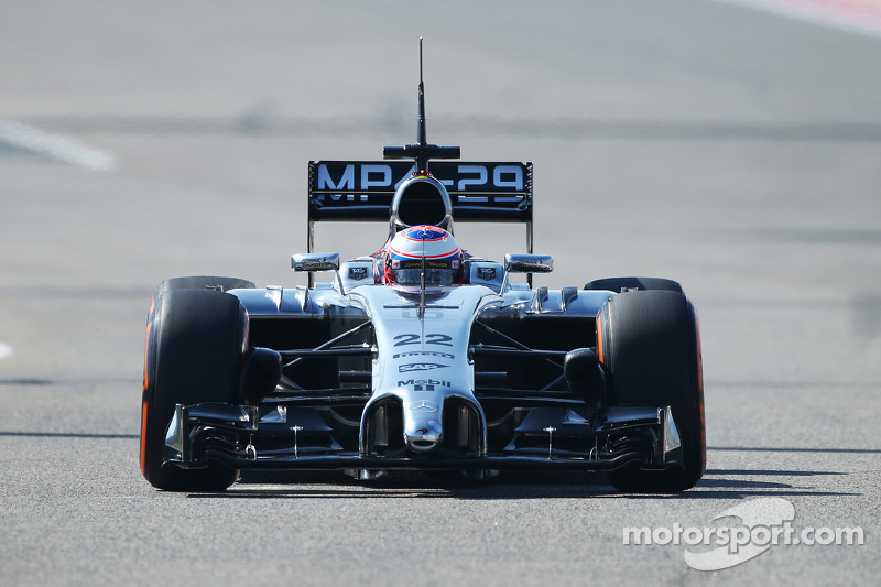 Just 52 laps for McLaren's Button on day 2 in Bahrain