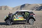 Jay Leno gets behind the wheel of the Dakar winning Mini