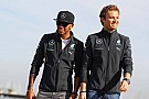 Signs of strain between Mercedes duo