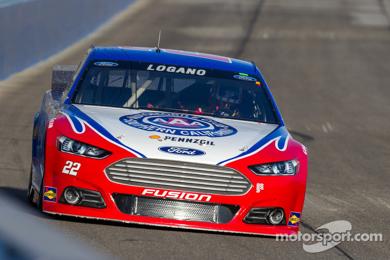 Logano forced to backup car after happy hour incident