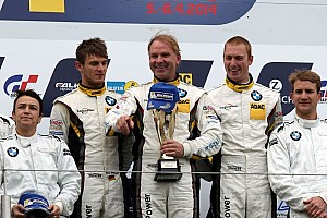 BMW Sports Trophy Teams celebrate one-two-three-four at the qualifying race for Nürburgring 24 Hours