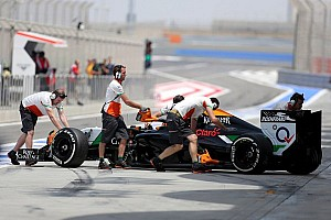 Title sponsor removed from Force India sidepods