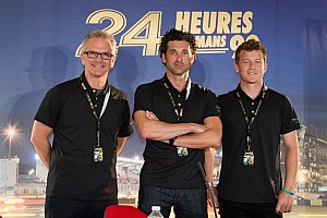 Le Mans Preview Actor Patrick Dempsey joins Patrick Long, Joe Foster for Le Mans