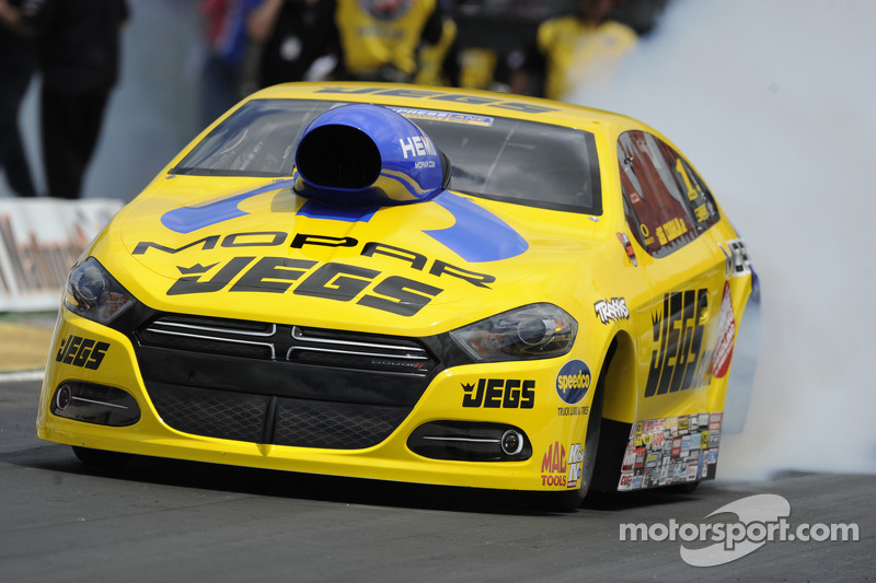 Pro stock driver Jeg Coughlin in prime position to repeat victory at Kansas Nationals