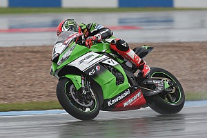 World Superbike Race report Sykes heads another Kawasaki 1-2 in race two at Donington