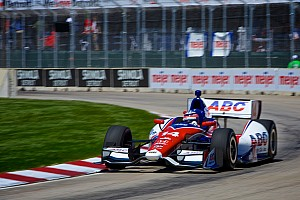Pole winner Takuma Sato gets punted in Detroit race -- twice