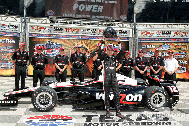 Power and Newgarden make up the front row at Texas