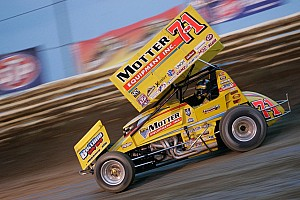 Joey Saldana takes a win at his home track