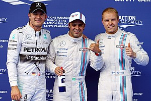 It's an all Williams front row with Massa on pole in Austria!