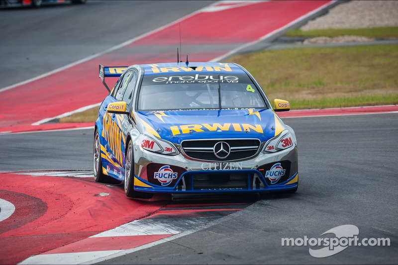 Mercedes-Benz 1-2 in practice atTownsville