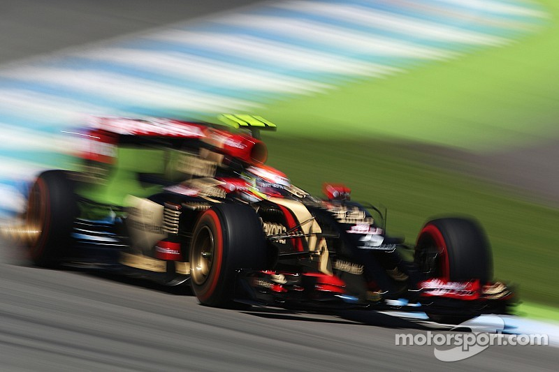 Lotus completes the first day of running at the Hockenheim