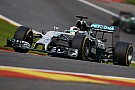 Hamilton and Rosberg collide early at Spa