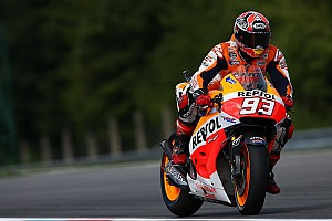 MotoGP Practice report Marquez grabs the initiative on day one at Silverstone