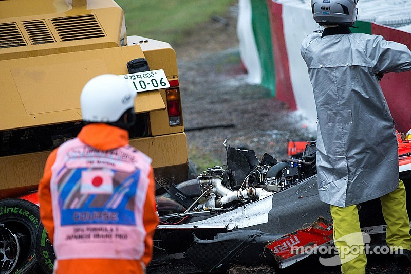 As with the Stewart/Ward tragedy, an amateur video shows Bianchi's crash