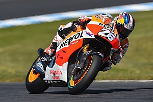 MotoGP Practice report Pedrosa on race record pace in a day of mixed weather at Sepang