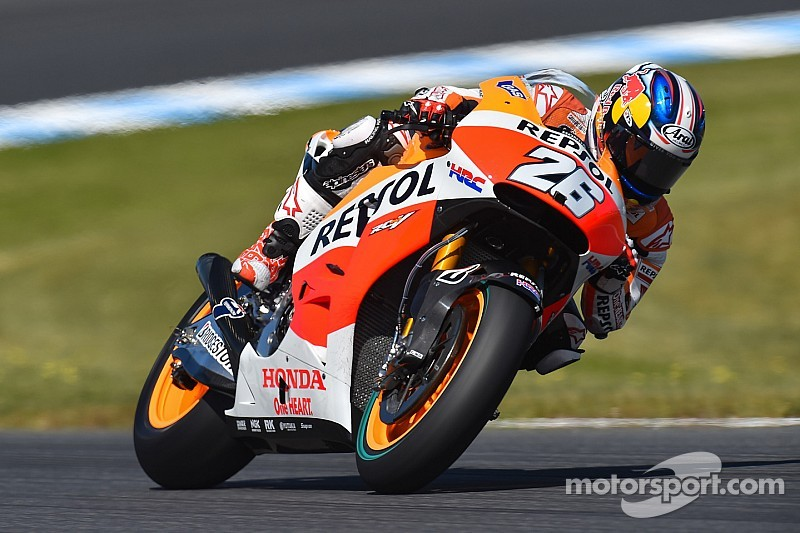 Pedrosa on race record pace in a day of mixed weather at Sepang