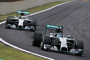 After a race-long battle, Rosberg took victory at the Brazilian GP