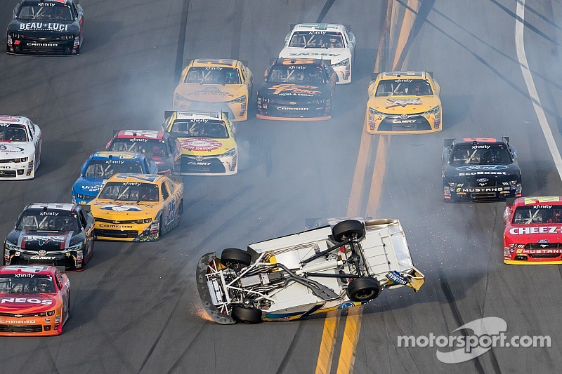 XFINITY Series debut begins with a bang as Smith goes flipping - video